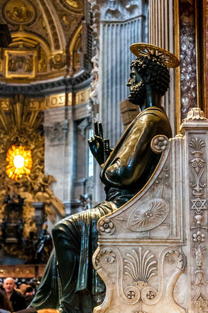 st  peter's square: St. Peters Basilica, St. Peters Square, Vatican City. Indoor interior