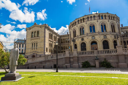 elected: OSLO, NORWAY - JULY 29: Oslo parliament has 169 members, and is elected every four years in Norway in Oslo, on July 29, 2014