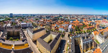 Large panorama view of Copenhagen in Denmark photo