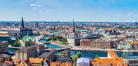 デンマークのコペンハーゲンの大きなパノラマ ビュー 写真素材