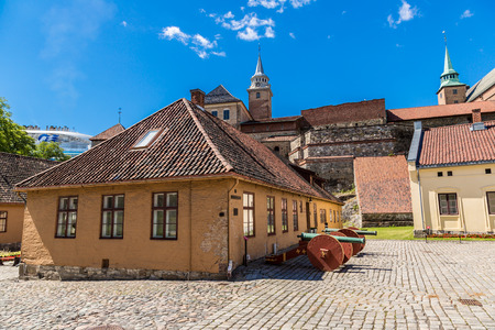 Medieval castle Akershus Fortress in Oslo. Norway