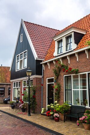 volendam: Traditional houses in Holland town Volendam, Netherlands Stock Photo