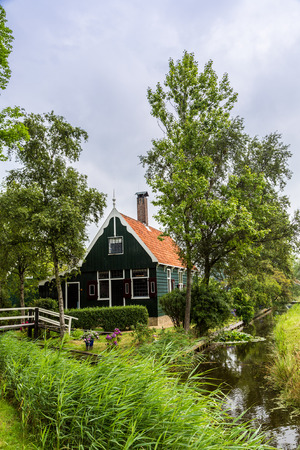 zaanse: Beautiful Zaanse Schans village in Netherlands (Holland). Editorial