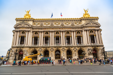 palais garnier: PARIS, FRANCE - JULY 14 2014: The Palais Garnier is probably the most famous opera house in the world in Paris, July 14, 2014