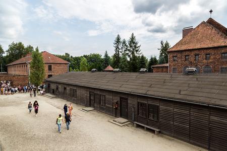 oswiecim: OSWIECIM, POLAND - JULY 22: Auschwitz is the biggest nazi concentration camp in Europe on July 22, 2014 in Oswiecim, Poland