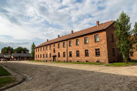 German concentration camp Auschwitz in Poland in summer day