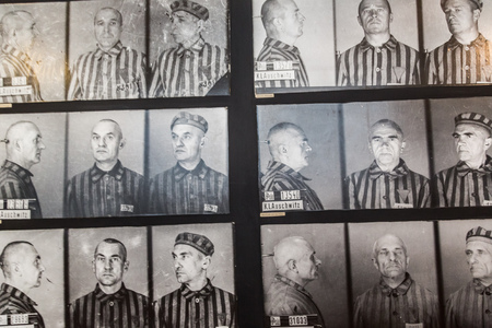 oswiecim: OSWIECIM, POLAND - JULY 22: Exhibition in Concentration camp in Auschwitz. It is the biggest nazi concentration camp in Europe on July 22, 2014 in Oswiecim, Poland