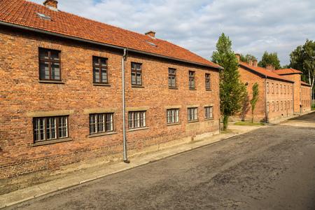 auschwitz: German concentration camp Auschwitz in Poland in summer day Editorial