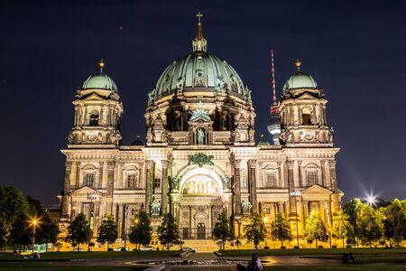dom: Berliner Dom in Berlin at summer nigth
