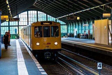 u bahn: BERLIN, GERMANY - JULY 3: Metro station in Berlin, Germany on July 3, 2014