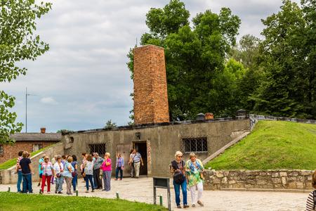crematorium: OSWIECIM, POLAND - JULY 22: Crematorium in Auschwitz is the biggest nazi concentration camp in Europe on July 22, 2014 in Oswiecim, Poland Editorial