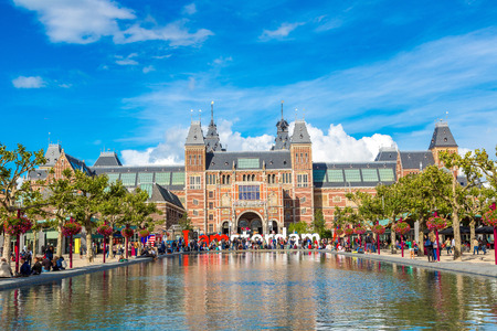amsterdam: Rijksmuseum Amsterdam museum with words I Amsterdam Editorial