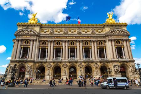 garnier: PARIS, FRANCE - JULY 14 2014: View of the old Garnier Opera house in Paris in summer day, July 14, 2014 Editorial