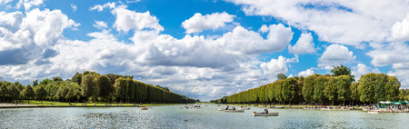 Lake in The Gardens of Versailles in a beautiful summer day in Paris, France