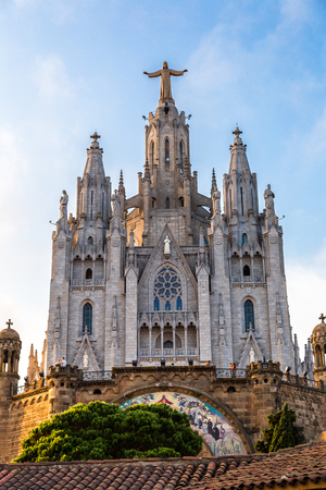 barcelona cathedral: Church of the Sacred heart of Jesus in Barcelona in Spain