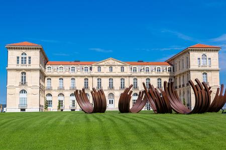palais: Palais du Pharo in a summer day  in Marseilles, France Editorial