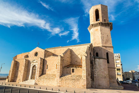laurent: Saint Laurent  church in a summer day in Marseille, France
