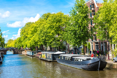 populous: Canals of Amsterdam. Amsterdam is the capital and most populous city of the Netherlands Editorial