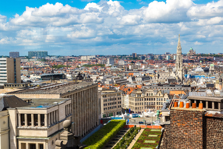 Cityscape of Brussels in a beautiful summer day photo