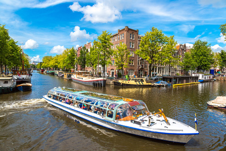 Canals of Amsterdam. Amsterdam is the capital and most populous city of the Netherlands 스톡 콘텐츠