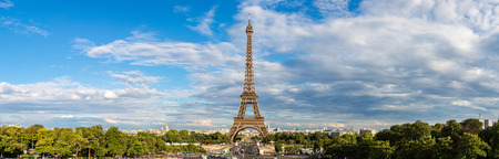 Eiffel Tower most visited monument in France and the most famous symbol of Paris Reklamní fotografie - 38275471
