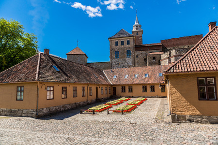 Medieval castle Akershus Fortress in Oslo. Norway