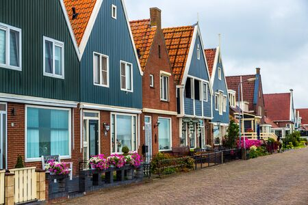 volendam: Traditional houses in Holland town Volendam, Netherlands Editorial
