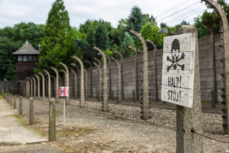 oswiecim: German concentration camp Auschwitz in Poland in summer day Editorial