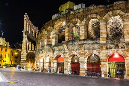 Verona Arena in a beautiful summer night in Verona, Italy (Arena di Verona)