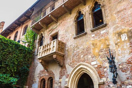 Romeo a Julie balkón v italské Veroně