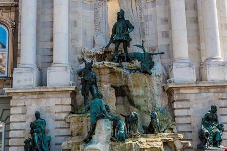 artful: The artful spring Matthiasbrunn en at the castle of Budapest in Hungary