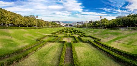 eduardo: Eduardo VII park   in Lisbon, Portugal in a beautiful summer day Stock Photo