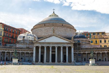 francesco: San Francesco di Paola in a summer day in  Naples, Italy Stock Photo