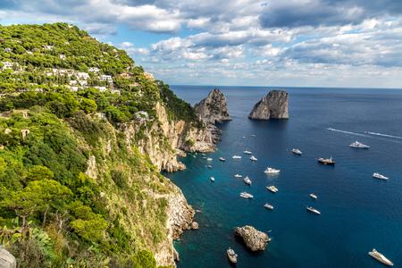 Capri island in a beautiful summer day in Italy photo