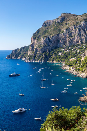 Capri island in a beautiful summer day in Italy photo
