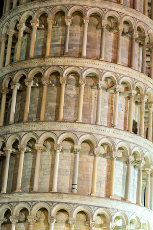 Leaning tower in a summer evening in Pisa, Italy photo