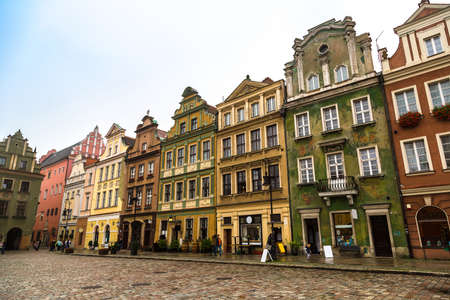 tenement: Old market square in Poznan in a summer day, Poland