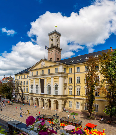lvov: Market square, it is a  historical and tourist centre of Lvov, Ukraine