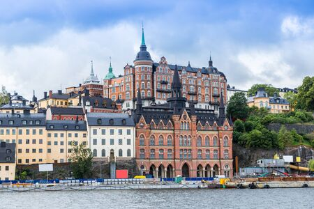 stan: Scenic of the Old Town (Gamla Stan) in Stockholm, Sweden Stock Photo