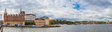 stan: panorama of the Old Town (Gamla Stan) in Stockholm, Sweden Stock Photo