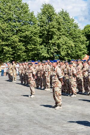 scandinavian people: OSLO, NORWAY - JULY 29: Norwegian soldiers came back home from Afghanistan  on July 29, 2014