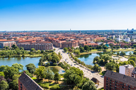 Copenhagen City, Denmark, Scandinavia. Beautiful summer day Standard-Bild