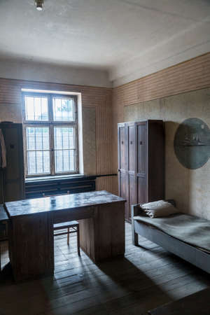 Reich: OSWIECIM, POLAND - JULY 22: Exhibition in Concentration camp in Auschwitz. It is the biggest nazi concentration camp in Europe on July 22, 2014 in Oswiecim, Poland