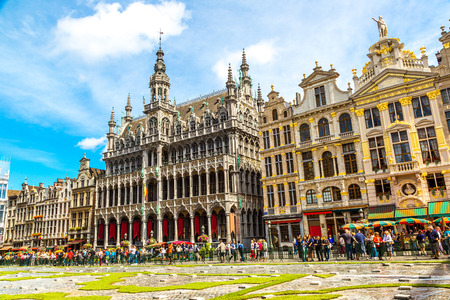 The Grand Place in a beautiful summer day in Brussels, Belgium