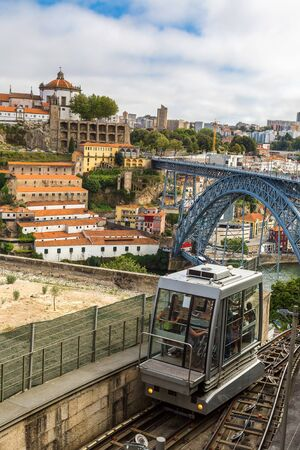 shanty: Funicular in Porto, Portugal in a summer day