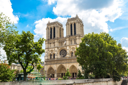 tourist tourists: Notre Dame de Paris is the one of the most famous symbols of Paris
