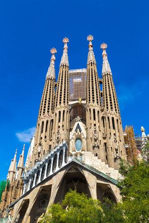 Sagrada Familia à Barcelone en Espagne en une journée d'été Banque d'images