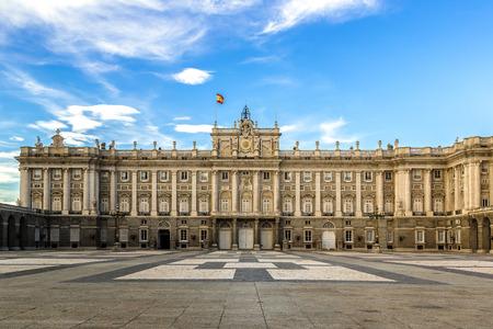 Královský palác v Madridu v krásný letní den, Španělsko Reklamní fotografie