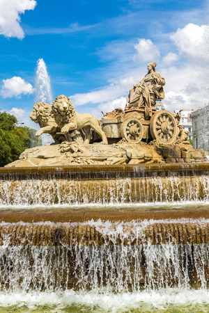 cibeles: Cibeles fountain at Plaza de Cibeles in Madrid in a beautiful summer day, Spain