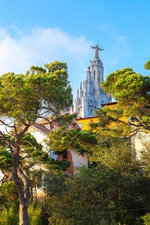 tibidabo: Church of the Sacred heart of Jesus in Barcelona in Spain